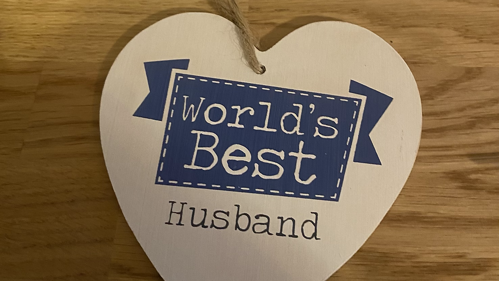 World's Best Husband Wooden heart