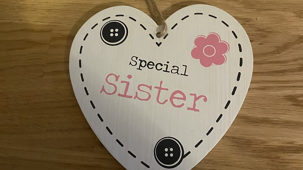 Special Sister Wooden Heart