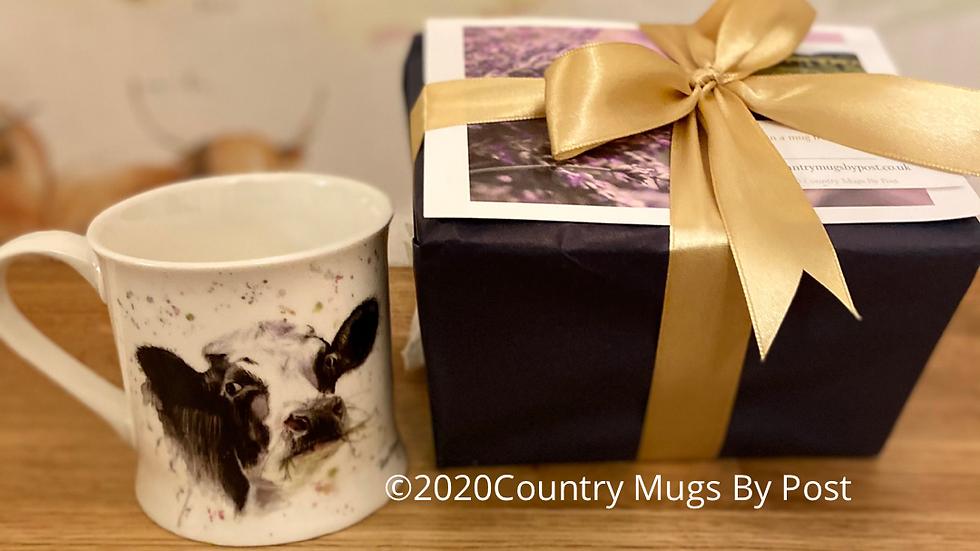 'Clover Cow' Single Mug Gift