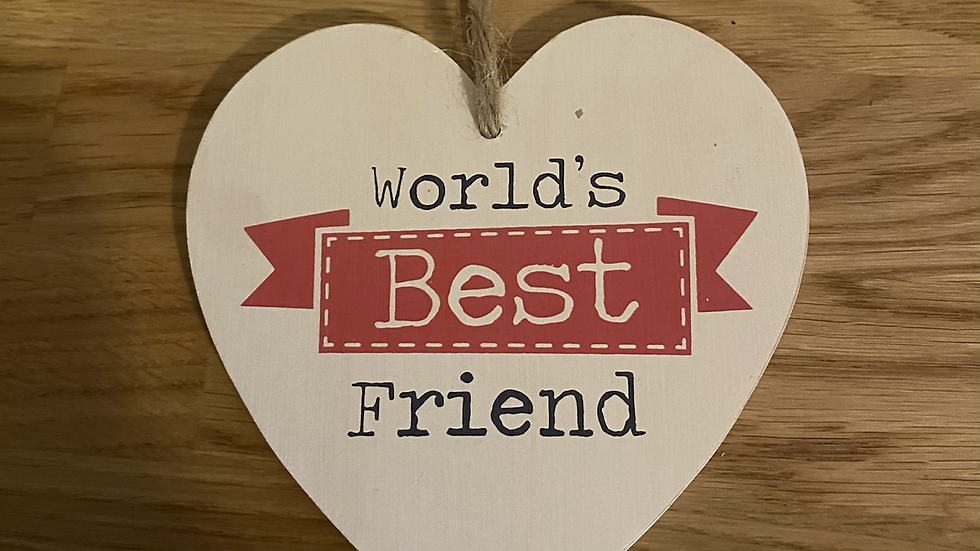 World's Best Friend Wooden Heart