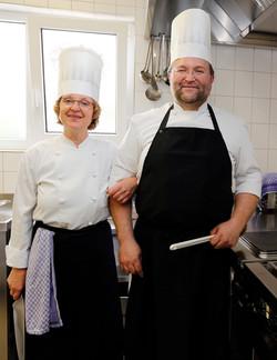 Küchenchef und Köchin