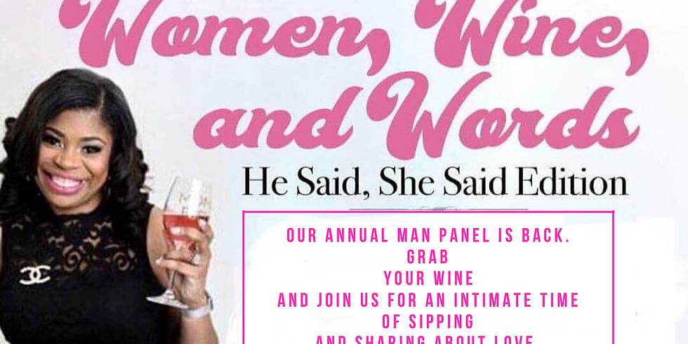 Women, Wine, & Words; The Man Panel