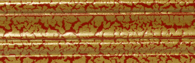 050 - Effetti speciali - Cracklè oro base rossa/Cracklè gold with red base/Craclè or sur base rouge