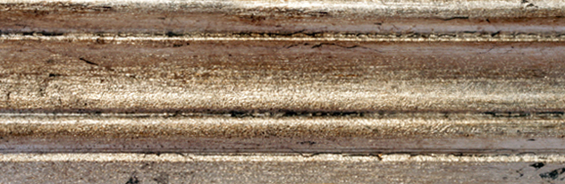 062 - Foglie - Foglia argento invecchiata con giudaica/Aged silver leaf with giudaica Patina/Feuille