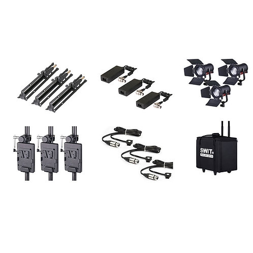 SWIT FL-C60D 3KIT 3xLight with case and stands