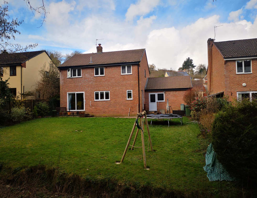 Single storey rear extension, Ogwell