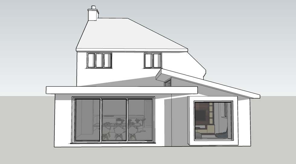 Single storey extension
