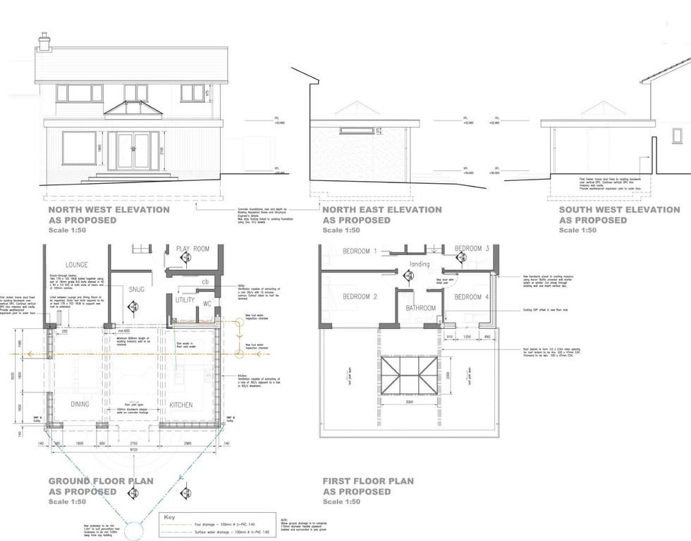 Single storey rear & two storey side extension