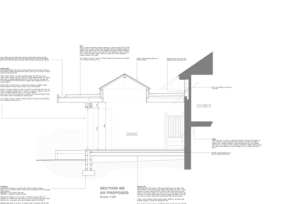 Extension and alterations to existing bungalow
