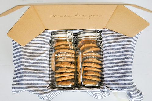 Deluxe Care Cookies Package | Duo Jar Box