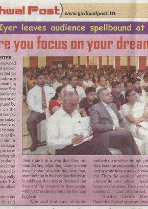 Orientation for IIT and JEEE aspirants  Bansal Classes Dehradun