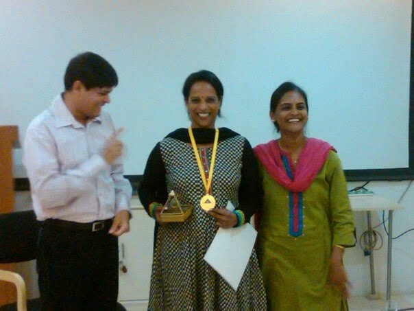 Receiving the Gold Medal for PLR
