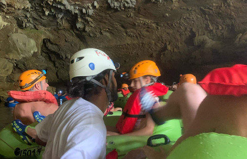 Cardinal Cave Tubing guests Belize