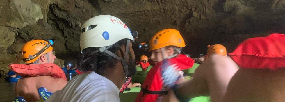 Cardinal Cave Tubing guests Belize