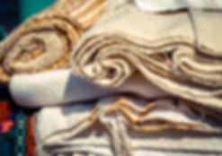 Handmade textile - natural fabric of fla