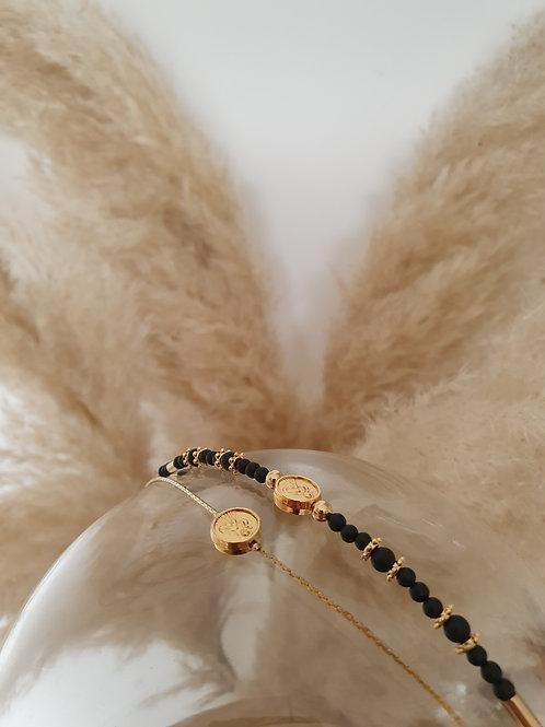 Bracelet MADONE noir et doré