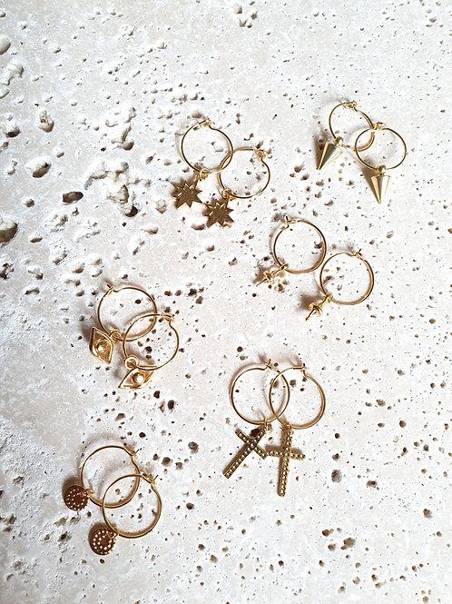 Créoles mini Charms doré