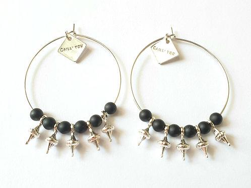 Boucles d'oreilles CASSIOPÉE Black XL