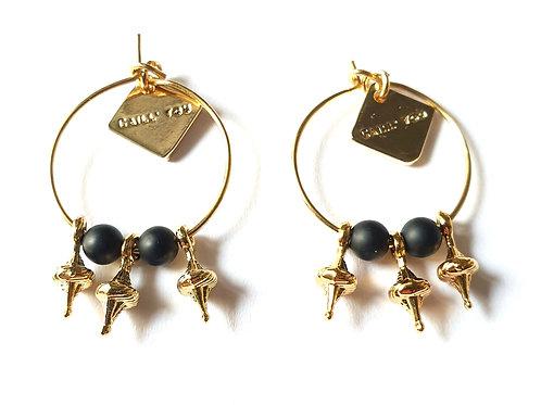Boucles d'oreilles CASSIOPÉE Black XS
