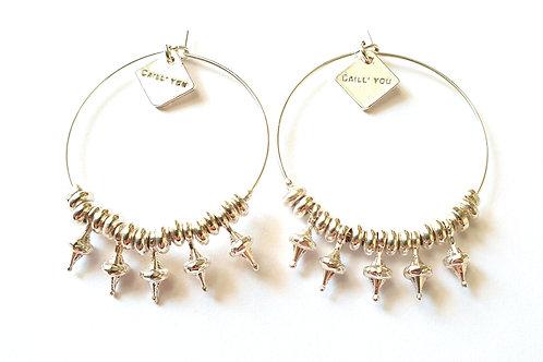 Boucles d'oreilles CASSIOPÉE Simples XL