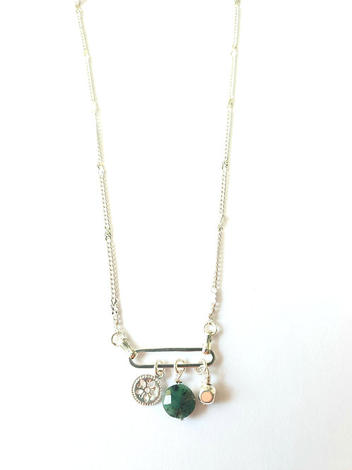 Collier MULTI CHARMS Argent