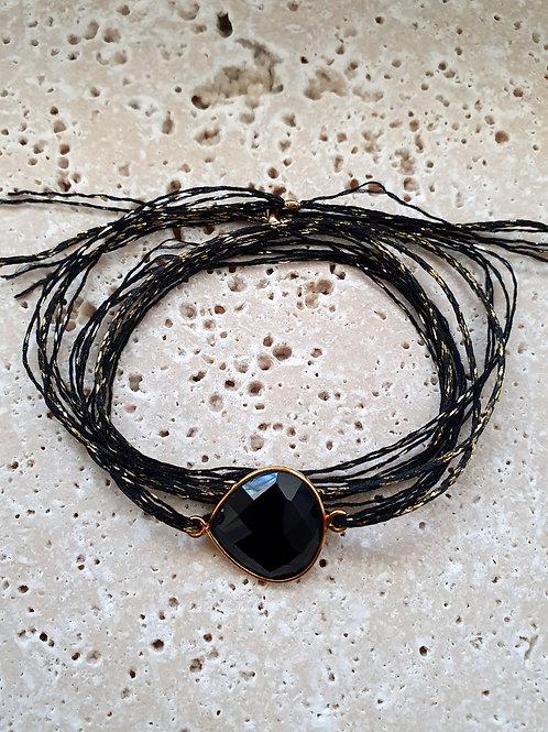 BRACELET JANE pierre noire