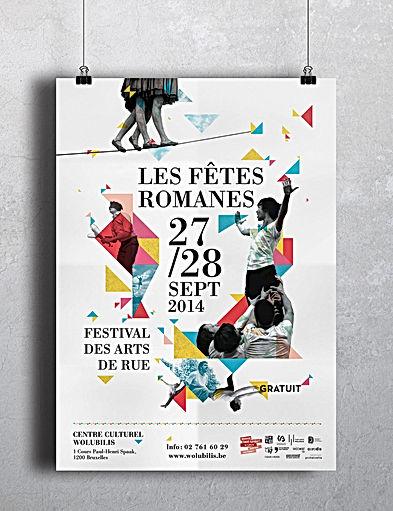 les fêtes romanes poster