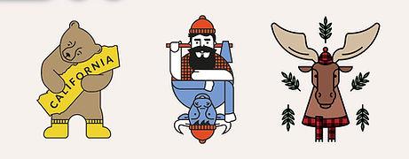 North america illustrations