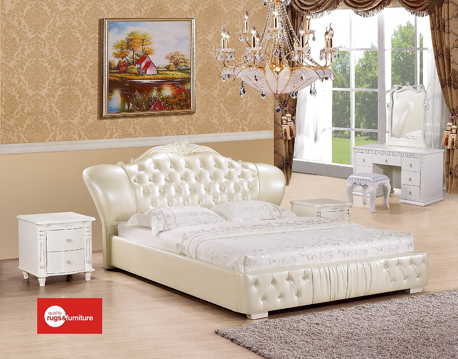 Delightful Leather Bed