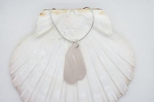 "Scottish Sea Glass Pendant on a Sterling Silver 24"" Chain"