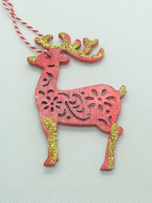 Christmas Tree Decorations - Reindeer, Santa & Fairy