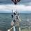 Thumbnail: Blue Sea Pottery Long Heart Mobile