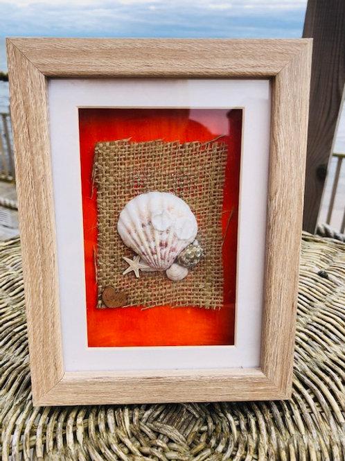 Shell & Hessian Photo Frame
