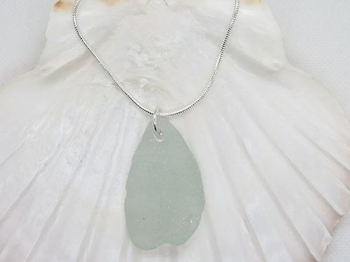 "Scottish Sea Glass Pendant on a Sterling Silver 20"" Chain"