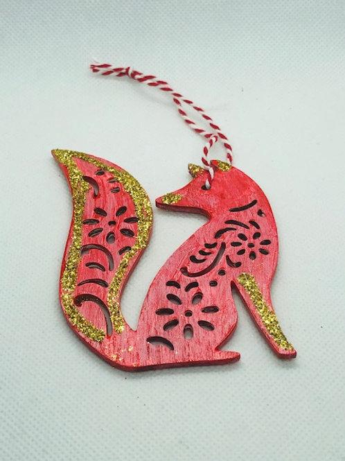 Christmas Tree Decorations - Fox, Santa & Fairy
