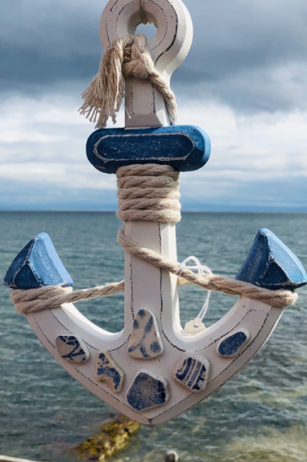 Blue Sea Pottery Anchor Mobile
