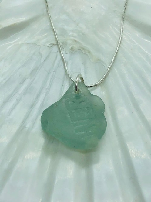 Rare Green Seaglass Pendant Necklace