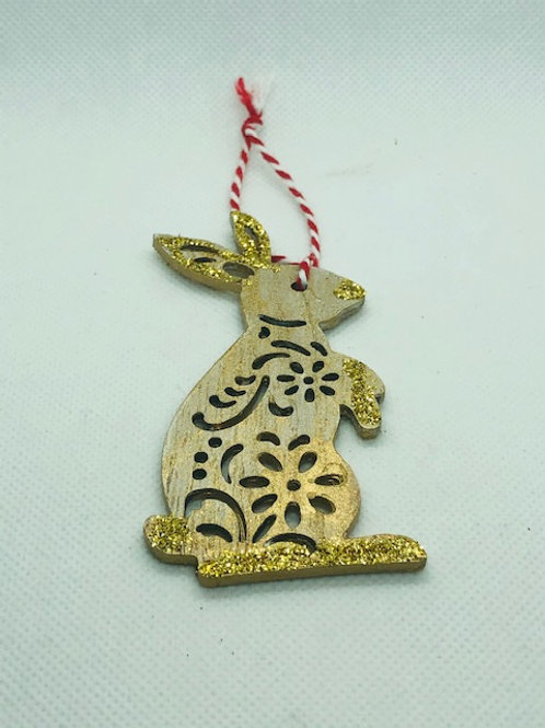 Christmas Tree Decorations - Rabbit, Santa & Fairy