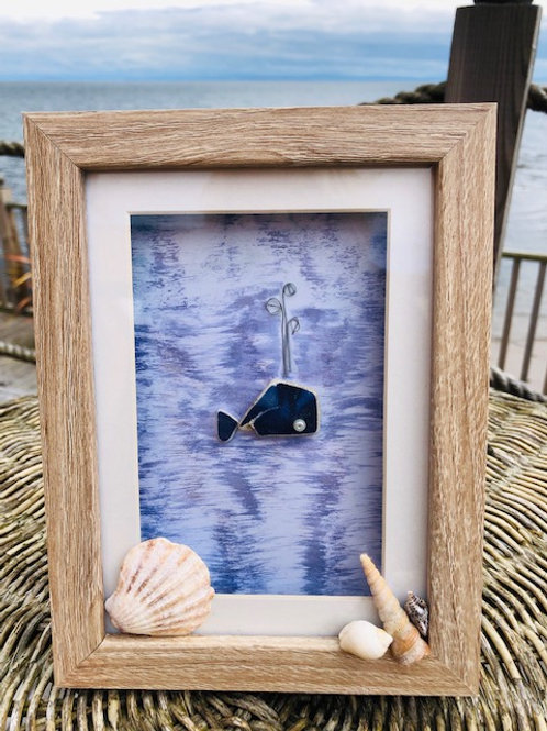 Whale Sea Pottery Frame