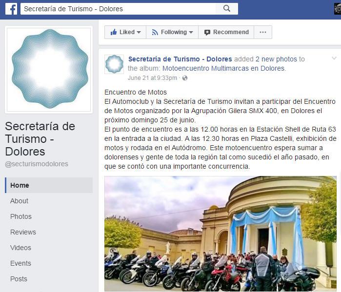 DOLORES 2017 SEC TURISMO