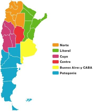 Regiones-Turísticas