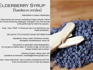ELDERBERRY SYRUP: Cold & Flu Seasonal Ally from our Apothecary to you.