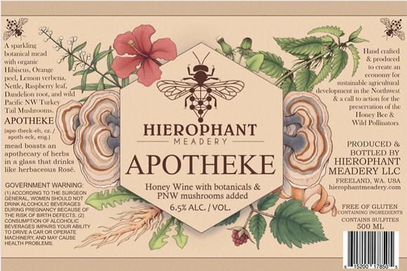 Apotheke Sparkling Botanical Mead 500ML