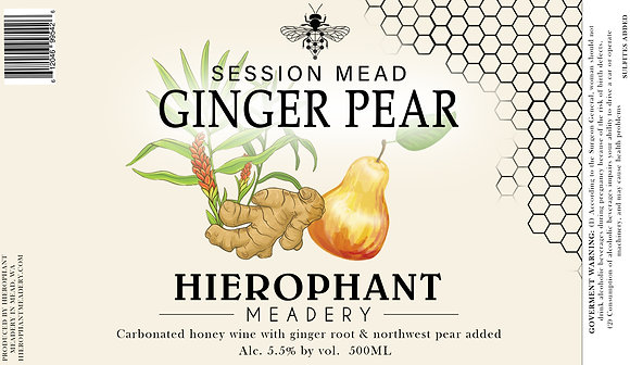 Ginger Pear Session Mead 500ML