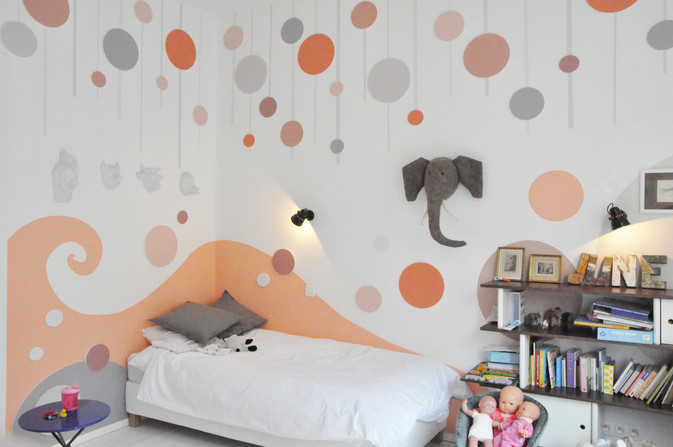 Bubbles and Waves Room   Animino Children's room murals and decoration