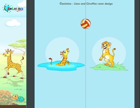 animino Lion Cubs and Giraffes Room Ino Karella Artwork
