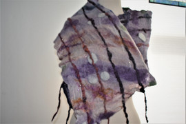 Purple & Golf scarf, other side