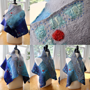 Blue casual vest, reversible and goes wi