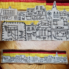 """City Scape. The first actual """"felting"""" project done by MZ. 1979 NFS"""
