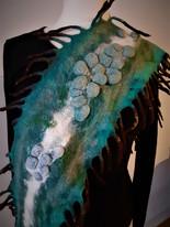 Shibori scarf